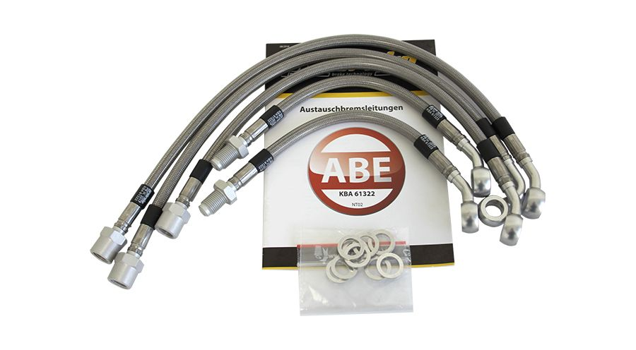 Steel-braided brake lines for BMW K1100RS 1991-1999 ABS II