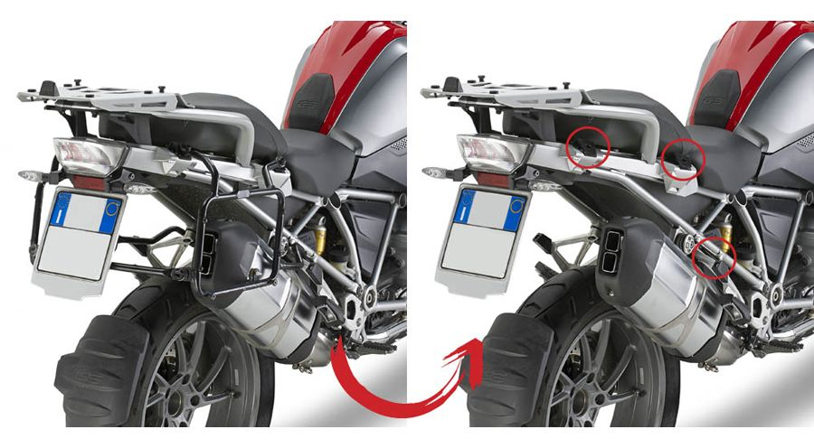 Side Case Mounting Dolomiti For Bmw R 1200 Gs Lc 2013