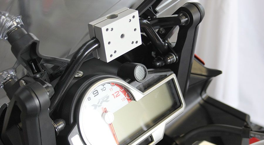 gps mounting for bmw s 1000 xr motorcycle accessory hornig. Black Bedroom Furniture Sets. Home Design Ideas