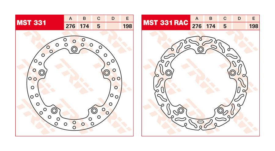 BMW R1100S Back brake disc