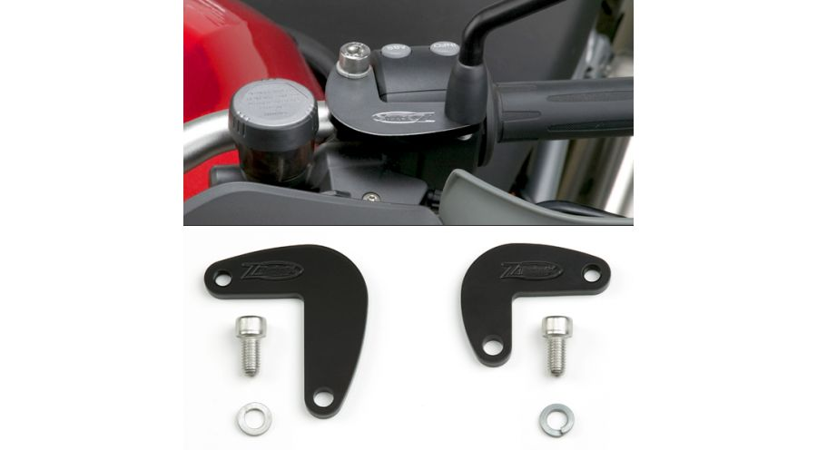BMW R1200GS, R1200GS Adventure & HP2 ZTechnik Mirror Extenders Adventure