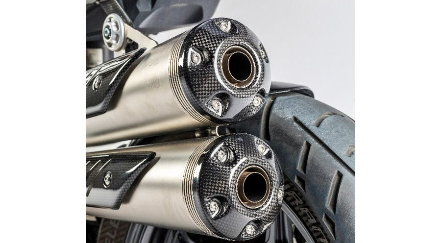 BMW R nine T Carbon silencer end-caps