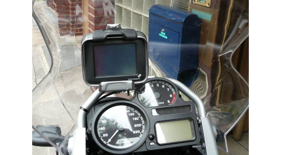 gps mount tomtom zumo for bmw r1200gs 2004 2007. Black Bedroom Furniture Sets. Home Design Ideas