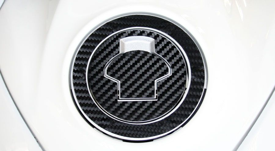 BMW K1100RS & K1100LT Petrol Cap Pad, 3D Carbon Look