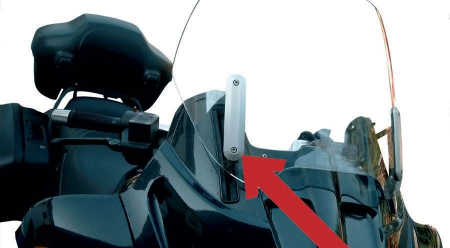 BMW R1100RT, R1150RT Screen attachment