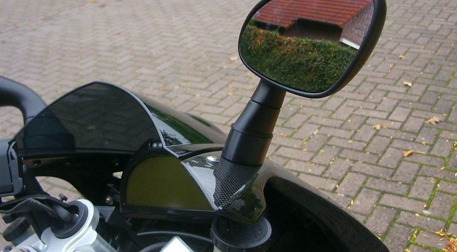 BMW R1200S & HP2 Sport Mirror Extensions