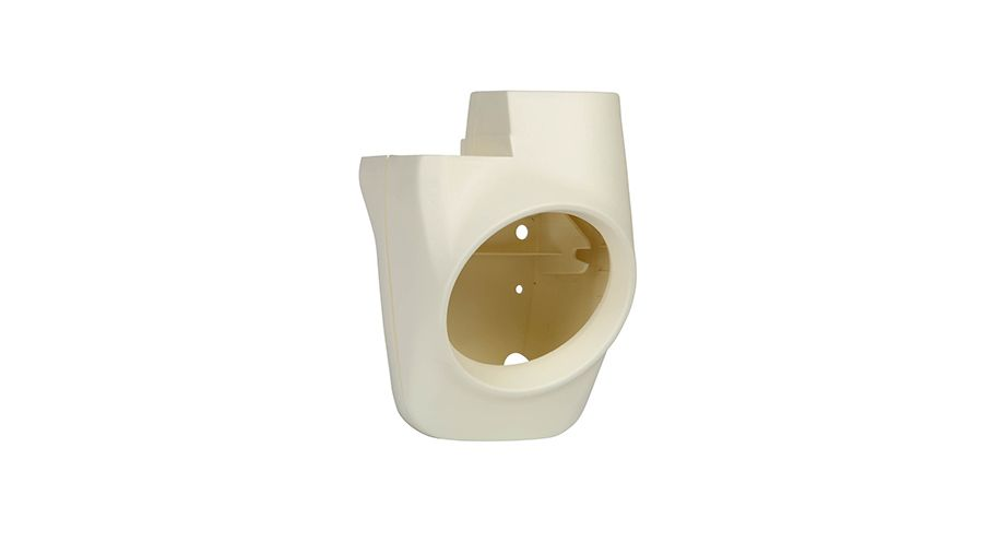 BMW R 80 Model Headlight housing, complete, white