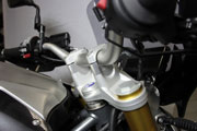Handlebar risers for BMW R 1200 R, LC (2015-) and R 1200 RS (2015-)