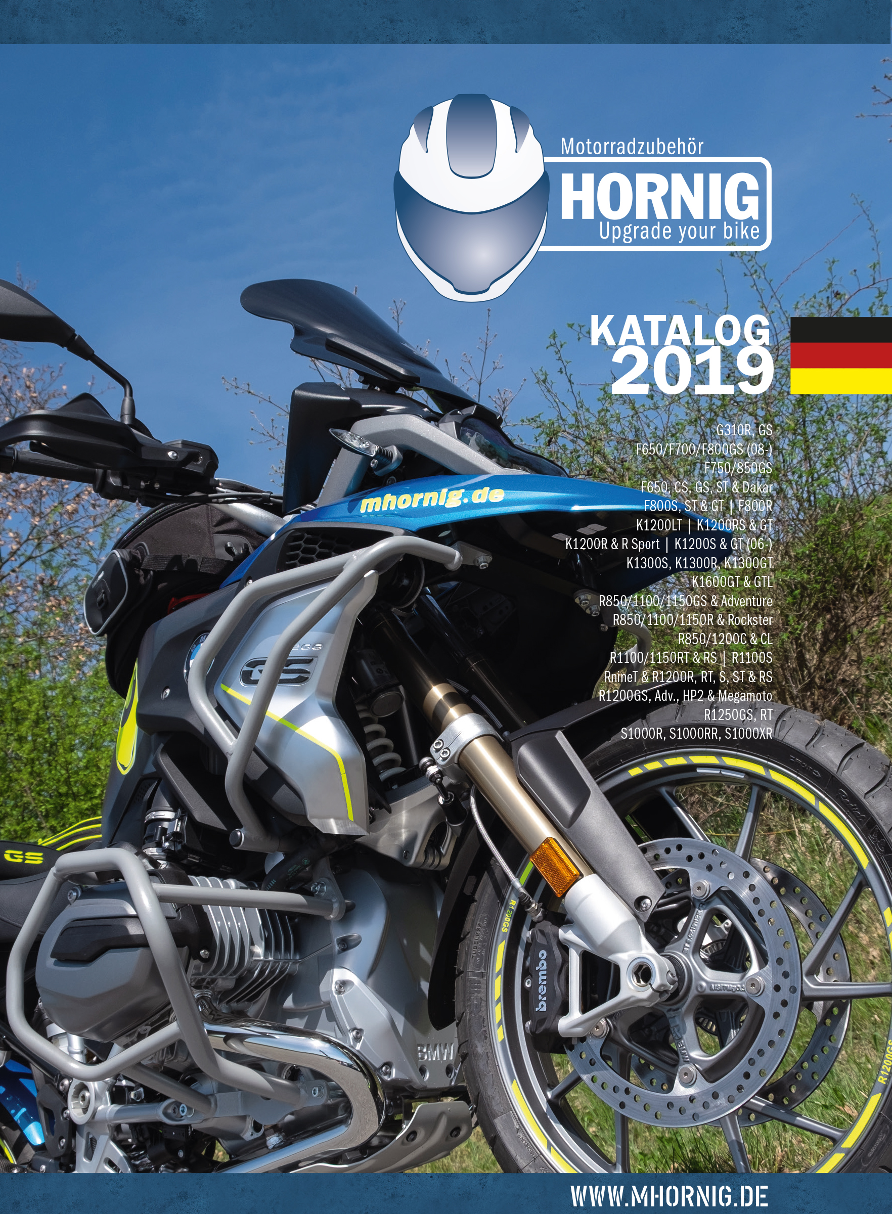 New Bmw Motorcycle Accessory Catalogue 2019 By Hornig Download Or Pre Order Now For Free Motorcycle Accessory Hornig Parts For Your Bmw Motorrad