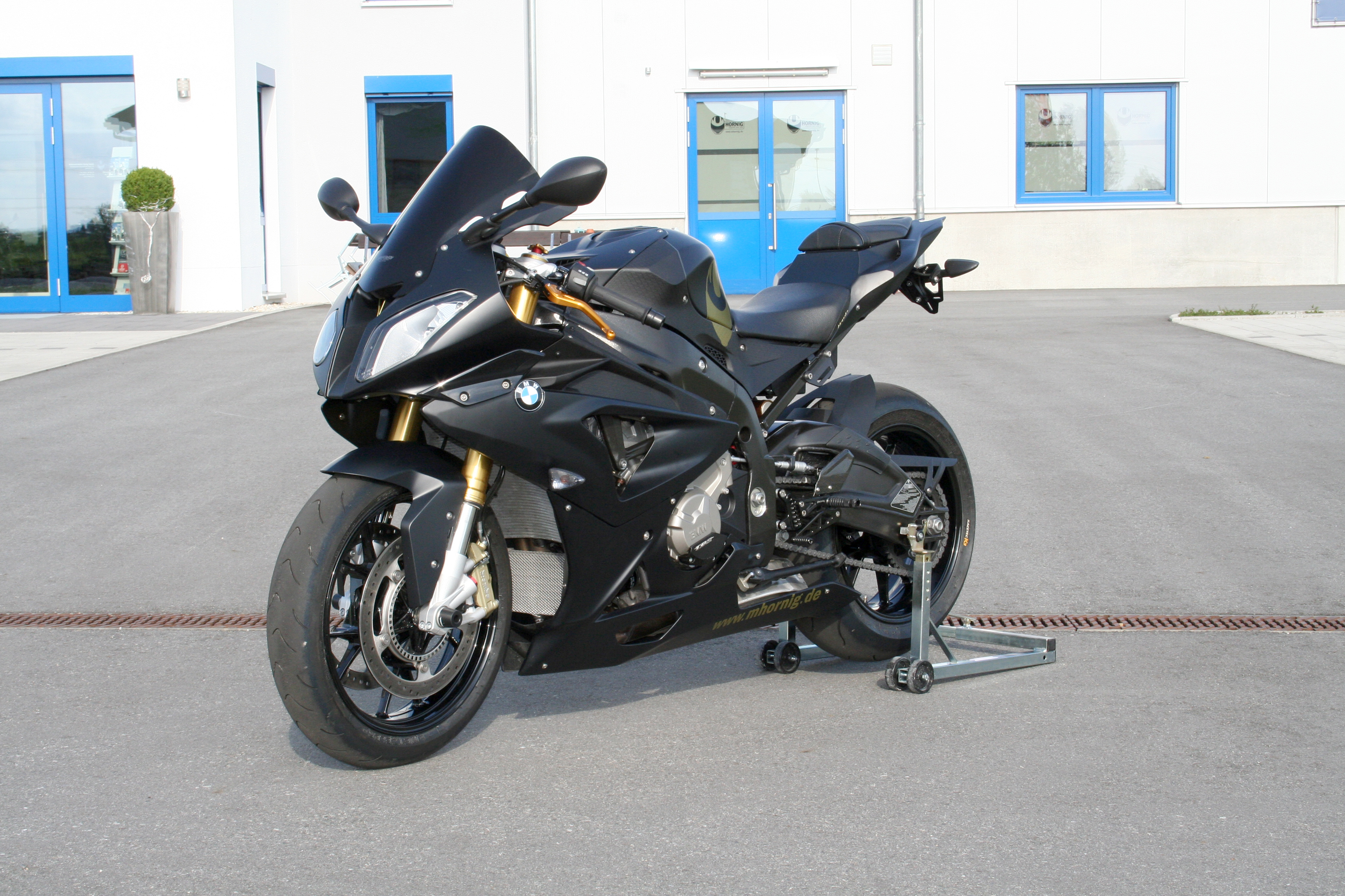 Hornig Conversion Bmw S1000rr Facelift In Matt Black Motorcycle Accessory Hornig Parts For Your Bmw Motorrad